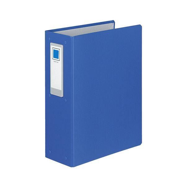 (まとめ) コクヨ チューブファイル(ロングボディ) 片開き A4タテ 4穴 800枚収容 背幅108mm 青 フ-L684NB 1冊 【×10セット】