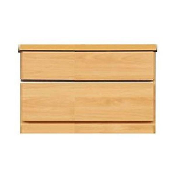 頑丈薄型チェスト/収納棚【2段 幅60cm ナチュラル木目調】 奥行30cm 日本製 『ウスピッタ』【完成品】