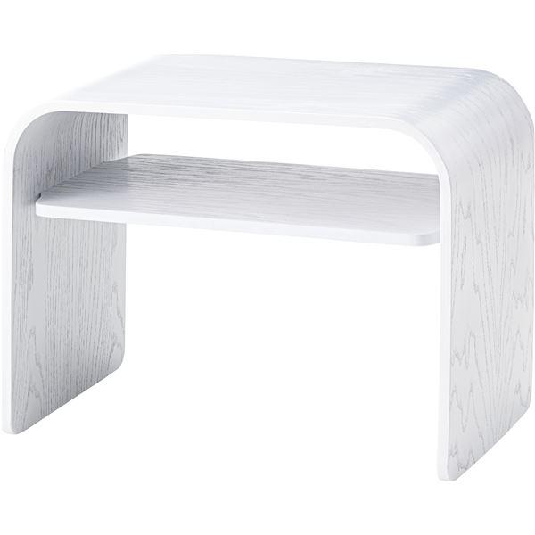 シンプル サイドテーブル/ミニテーブル 【幅50cm×奥行29.5cm×高さ36.5cm】 天然木化粧繊維板 〔リビング ダイニング〕