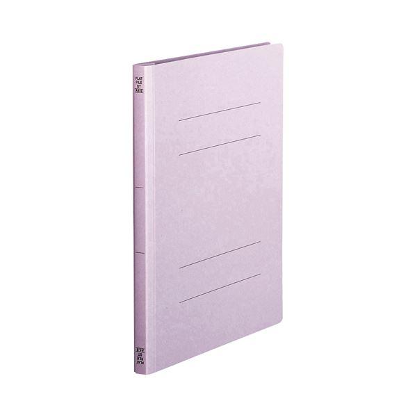 (まとめ) TANOSEE フラットファイル(スタンダードカラー) A4タテ 150枚収容 背幅18mm 紫 1セット(100冊:10冊×10パック) 【×5セット】