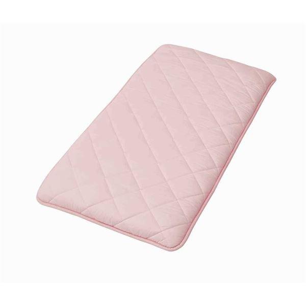 職人が作った3層構造 敷布団 【Lサイズ ピンク】 65×180cm 長方形 抗菌 防臭 防ダニ 〔寝室 ベッドルーム〕【代引不可】