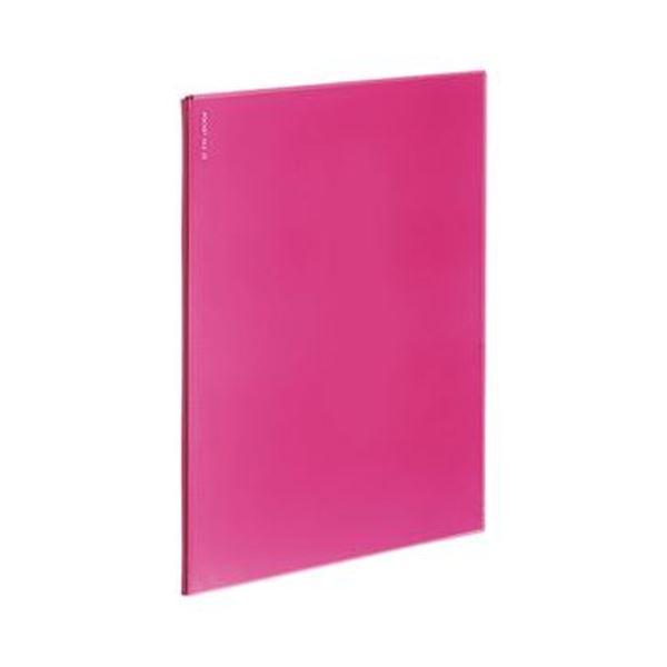 (まとめ)コクヨ ポケットファイルα(ノビータα)固定式 A4タテ 6ポケット 背幅3mm ピンク ラ-NF6P 1セット(10冊)【×10セット】