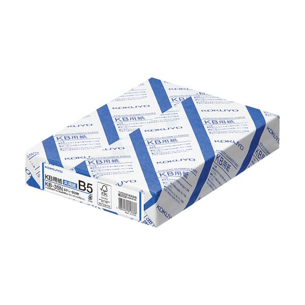 (まとめ)コクヨ KB用紙(共用紙) B5KB-35N 1箱(2500枚:500枚×5冊) 【×3セット】