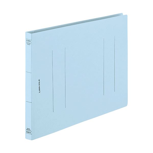 (まとめ) ライオン事務器 フラットファイル(環境)樹脂押え具 A4ヨコ 150枚収容 背幅18mm ライトブルー A-510KA4E 1セット(10冊) 【×30セット】