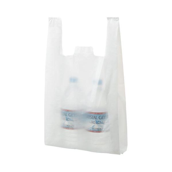 (まとめ) TANOSEE 乳白レジ袋 30号 ヨコ265×タテ480×マチ幅130mm 1パック(100枚) 【×30セット】