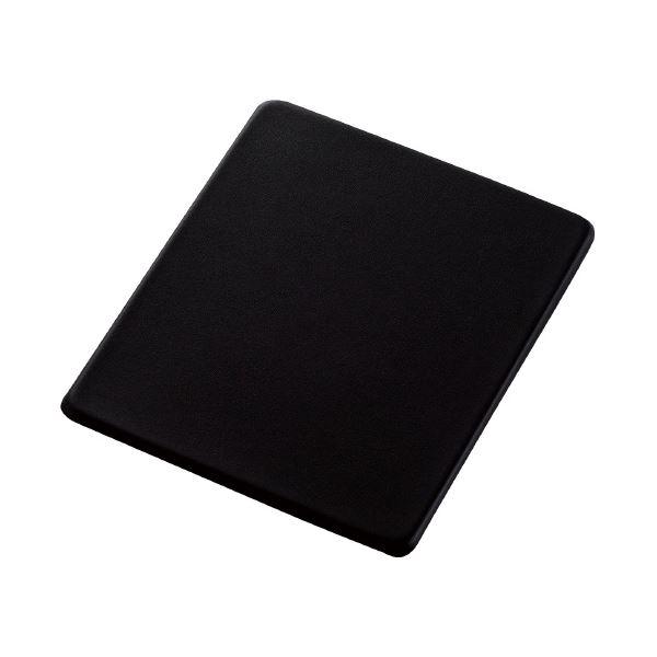 (まとめ)エレコム マウスパッドソフトレザーMP-SL01BK(×10セット)