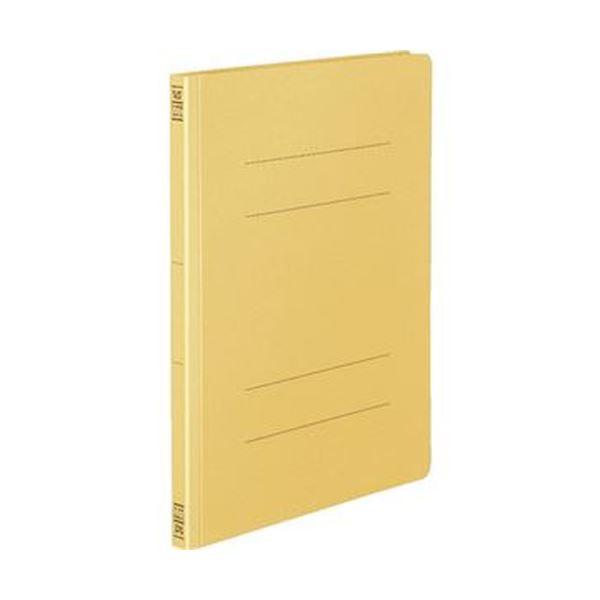 (まとめ)コクヨ フラットファイル(間伐材使用)A4タテ 150枚収容 背幅18mm 黄 フ-VK10Y 1セット(10冊)【×10セット】