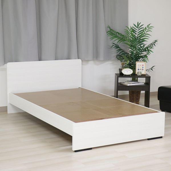 ベッド 日本製 工具 不要 組立 簡単 省スペース ベッド下 収納 シンプル モダン フラット 木製 パネル デザイン ホワイト シングル ベッドフレームのみ【代引不可】