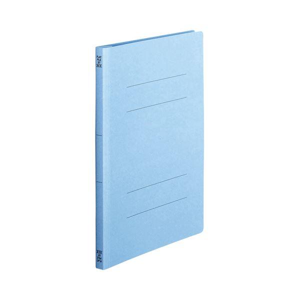 (まとめ) TANOSEE フラットファイル(スタンダードカラー) A4タテ 150枚収容 背幅18mm コバルトブルー 1セット(100冊:10冊×10パック) 【×5セット】