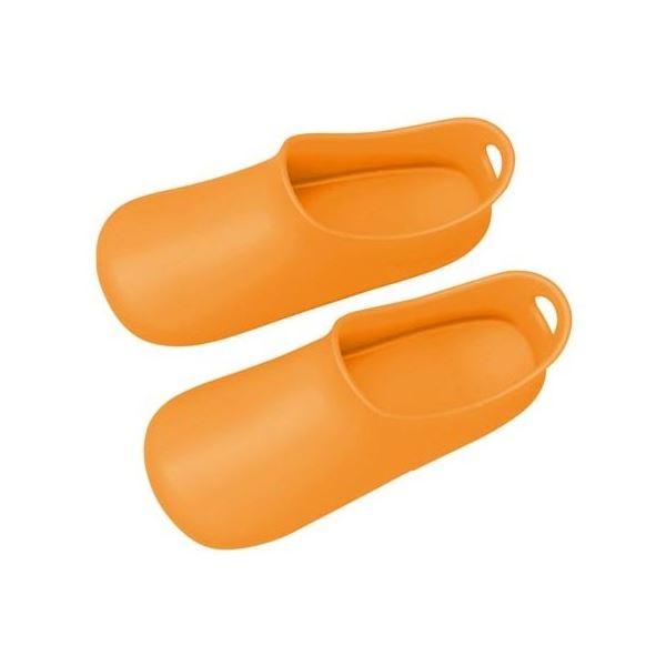 (まとめ) バスシューズ/お風呂掃除用品 【オレンジ】 フリーサイズ 約24~26cm バス用品 【12個セット】