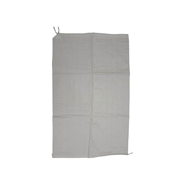 (まとめ)ユタカメイク 収集袋 PP収集袋(乳白)60cm×100cm W-42 1パック(5枚)【×10セット】