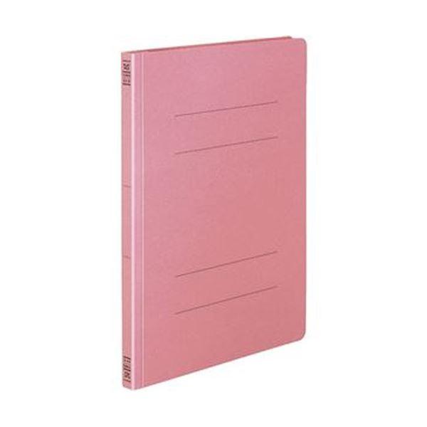 (まとめ)コクヨ フラットファイル(間伐材使用)A4タテ 150枚収容 背幅18mm ピンク フ-VK10P 1セット(10冊)【×10セット】