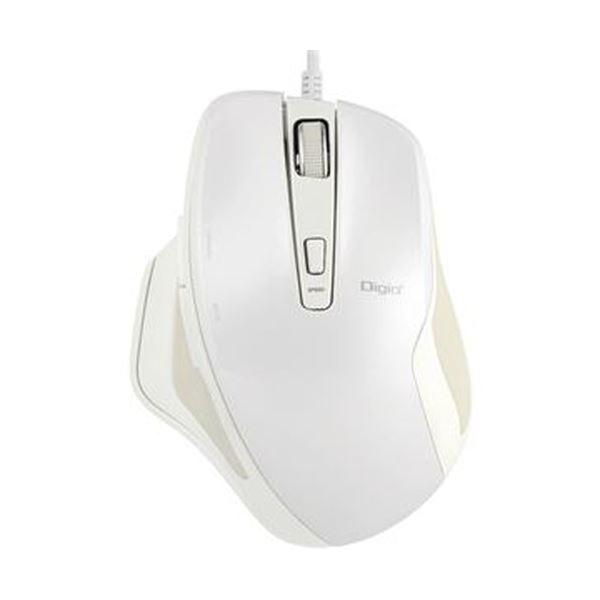 (まとめ)ナカバヤシ有線静音5ボタンBlueLEDマウス ホワイト MUS-UKF156W 1個【×5セット】