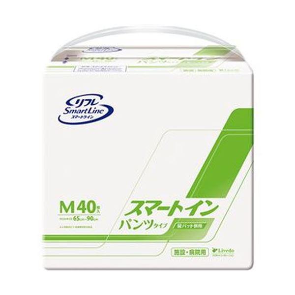 (まとめ)リブドゥコーポレーション リフレスマートイン パンツタイプ M 1パック(40枚)【×3セット】