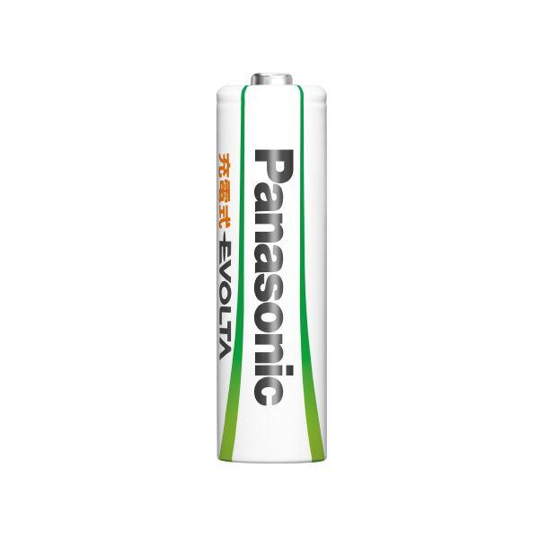 (まとめ)Panasonic エボルタ充電式電池 単4 4本 BK-4MLE/4BC【×10セット】