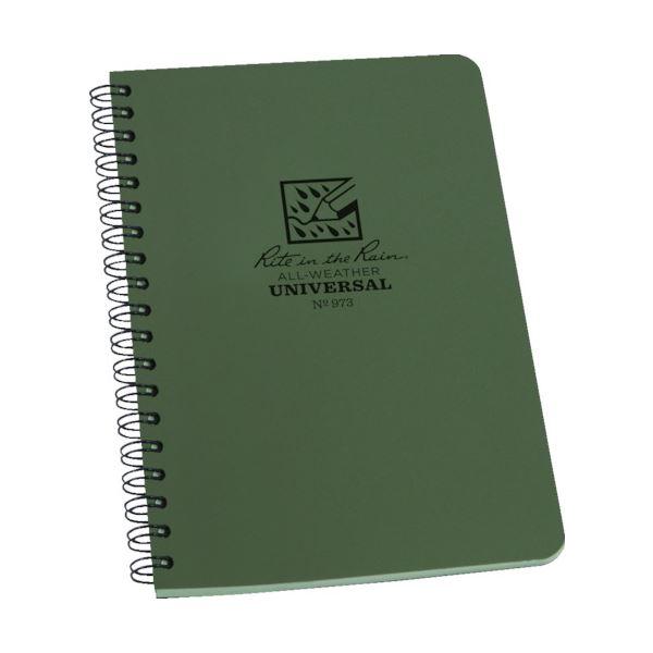 (まとめ) ライトインザレインスパイラルノートブック ユニバーサル グリーン 973 1冊 【×10セット】