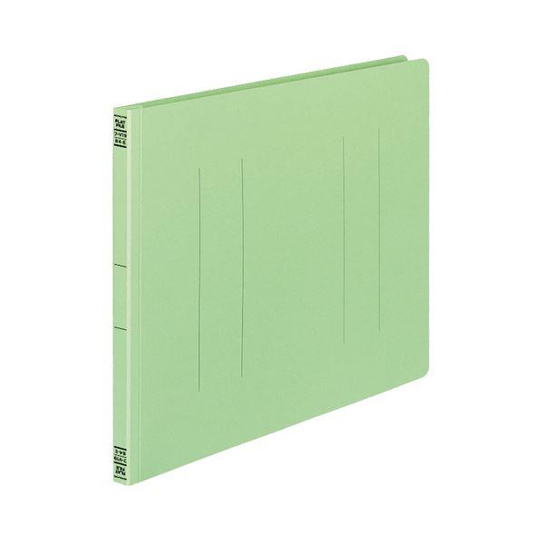(まとめ) コクヨ フラットファイルV(樹脂製とじ具) B4ヨコ 150枚収容 背幅18mm 緑 フ-V19G 1パック(10冊) 【×10セット】