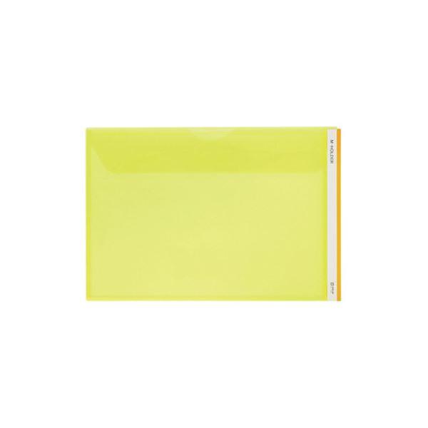 (まとめ) キングジム Mホルダー A4ヨコ 黄フタ付 733E 1セット(5枚) 【×10セット】