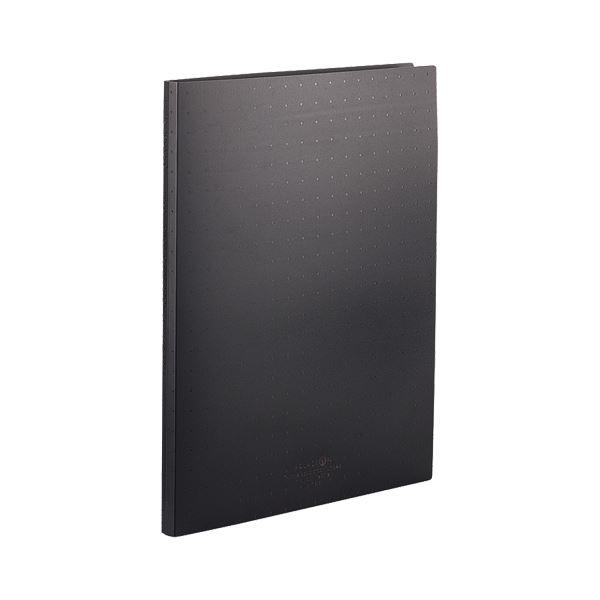 A4タテ 30穴 N5015-24 DROPs AQUA クリヤーブック(クリアブック)(ポケット交換タイプ) リヒトラブ 黒 (まとめ) 背幅18mm 【×30セット】 1冊 15ポケット付属