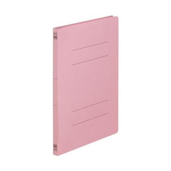 (まとめ)TANOSEE フラットファイル(ノンステープルタイプ)A4タテ 150枚収容 背幅18mm ピンク 1パック(10冊)【×50セット】