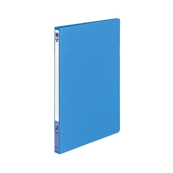 (まとめ) コクヨ レターファイル(色厚板紙)B5タテ 120枚収容 背幅20mm 青 フ-551B 1セット(10冊) 【×5セット】