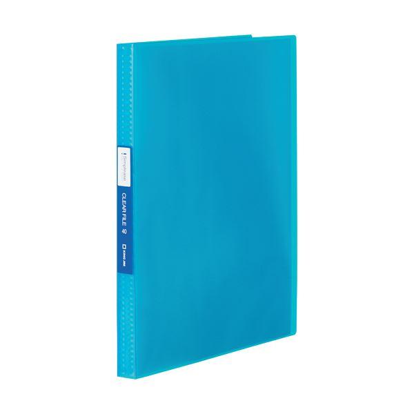 (まとめ) キングジム シンプリーズクリアーファイル(透明) A4タテ 40ポケット 背幅22mm 青 TH184TSPWB 1冊 【×30セット】