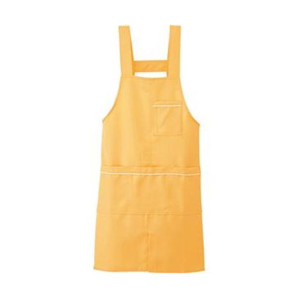 (まとめ)アイトス パイピングエプロンストレッチギャバ サンオレンジ フリーサイズ 861370-163-F 1枚【×10セット】