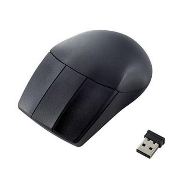 (まとめ)エレコム 3DCAD用無線3ボタンマウス ブラック M-CAD01DBBK 1個【×5セット】