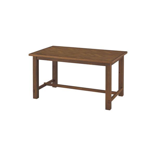 【ポイント10倍】シンプル ダイニングテーブル 【ブラウン 幅135cm】 木製 ウレタン塗装 『クーパス』 〔リビング キッチン 店舗 飲食店〕【代引不可】