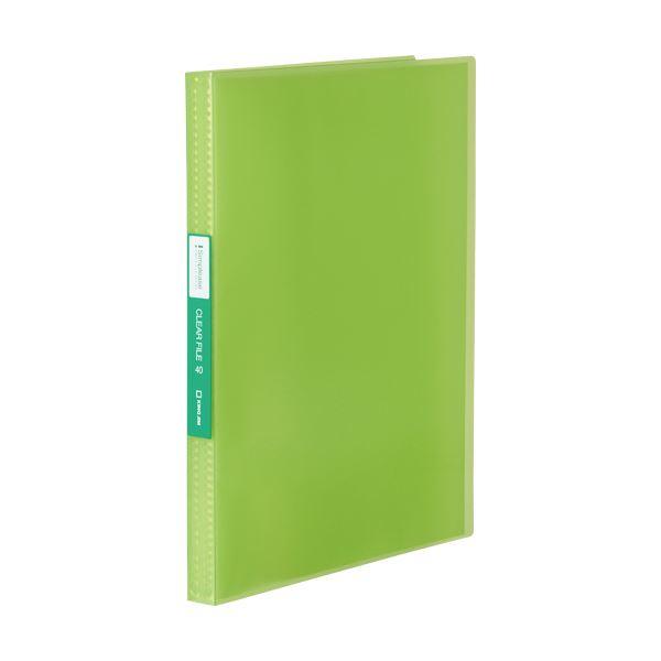 (まとめ) キングジム シンプリーズクリアーファイル(透明) A4タテ 40ポケット 背幅22mm 黄緑 TH184TSPWG 1冊 【×30セット】