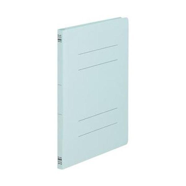 (まとめ)TANOSEE フラットファイル(ノンステープルタイプ)A4タテ 150枚収容 背幅18mm 青 1パック(10冊)【×50セット】