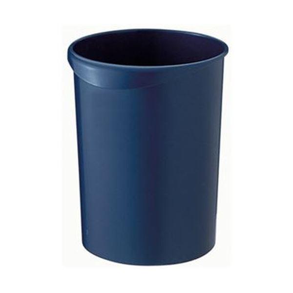 (まとめ)TANOSEE くず入れ 丸型 12Lダークブルー 1個【×20セット】