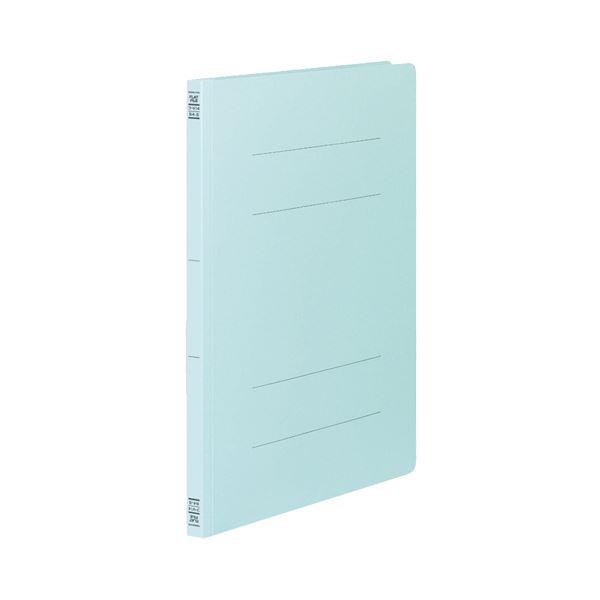 (まとめ) コクヨ フラットファイルV(樹脂製とじ具) B4タテ 150枚収容 背幅18mm 青 フ-V14B 1パック(10冊) 【×10セット】