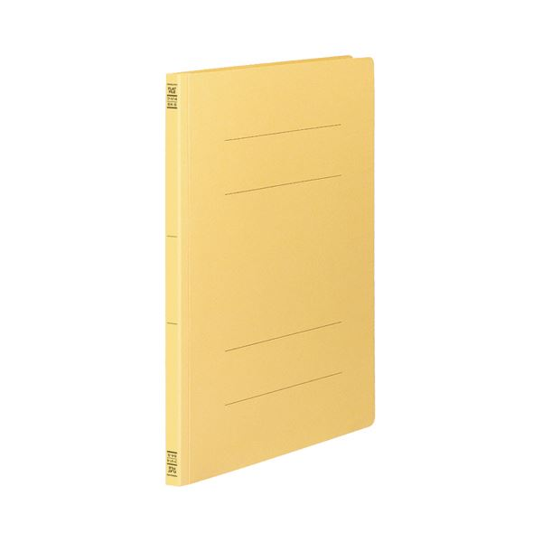 (まとめ) コクヨ フラットファイルV(樹脂製とじ具) B4タテ 150枚収容 背幅18mm 黄 フ-V14Y 1パック(10冊) 【×10セット】
