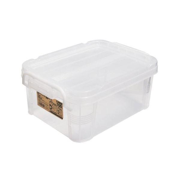収納ボックス/収納ケース 【幅24.3×奥行き33.7×高さ14.5cm】 フタ付き 積み重ね可 ソリッドボックス クリア 【24個セット】