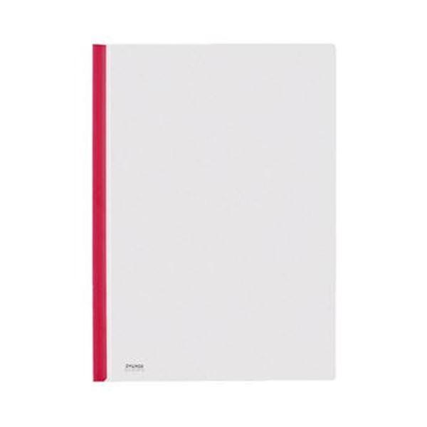 (まとめ)コクヨ カラーレールクリヤーホルダーA4タテ 20枚収容 赤 フ-760NR 1セット(20冊)【×5セット】