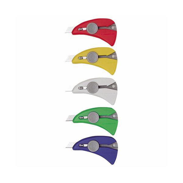 (まとめ)NTカッター クイックナイフ 5色Q-100P 1セット(50本:各色10本)【×3セット】