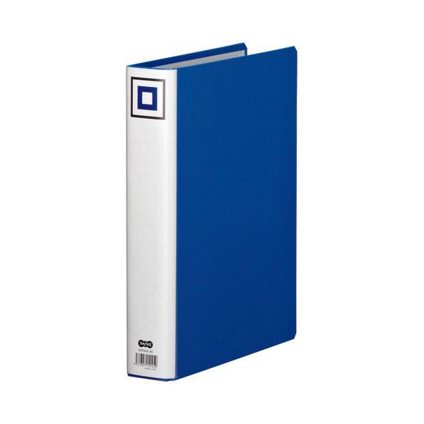 両開きパイプ式ファイルV 【×5セット】 (まとめ) 青 背幅55mm 400枚収容 A4タテ 1セット(10冊) TANOSEE