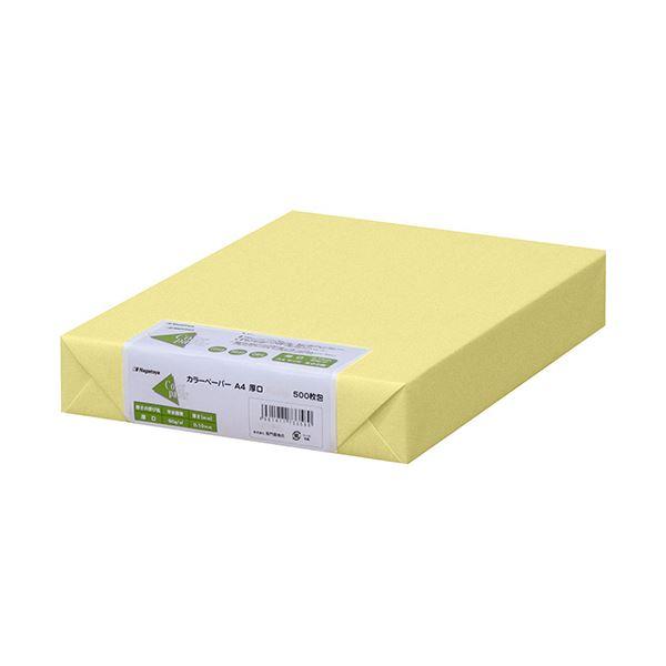 (まとめ)長門屋商店 Color Paper A4厚口 クリーム ナ-3353 1冊(500枚) 【×3セット】