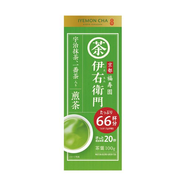 (まとめ)宇治の露製茶 伊右衛門 抹茶入り煎茶100g/袋 1セット(3袋)【×5セット】