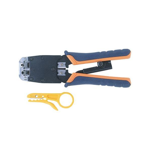 サンワサプライ かしめ工具 ラチェット付HT-500R 1個