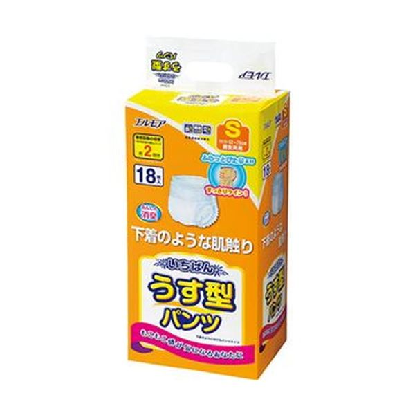 (まとめ)カミ商事 エルモア いちばんうす型パンツ S 1パック(18枚)【×10セット】