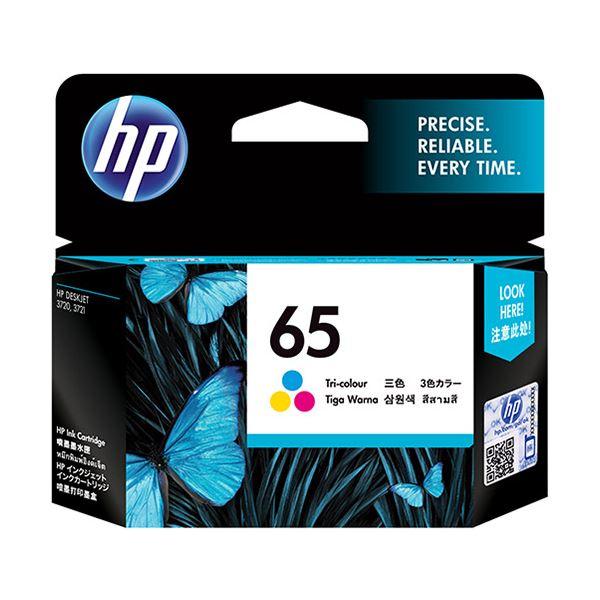 (まとめ) HP HP65 インクカートリッジカラー N9K01AA 1個 【×10セット】