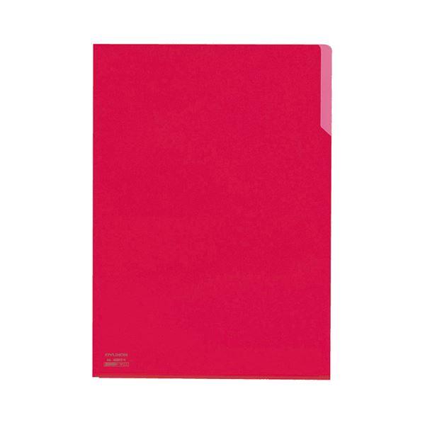 (まとめ) コクヨ クリヤーホルダー10(テン)A4 赤 フ-T750-1 1セット(5枚) 【×30セット】
