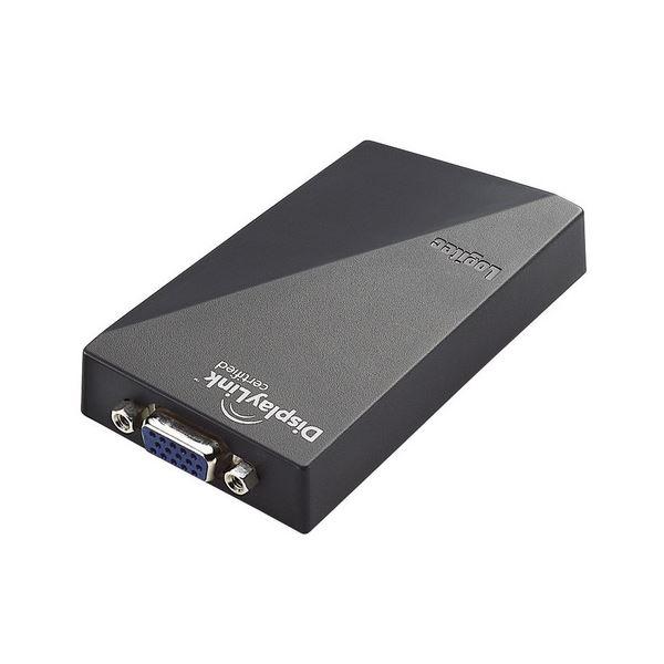 ロジテック USB対応マルチディスプレイアダプタ WXGA+対応 D-Sub15pinメス LDE-SX015U 1個