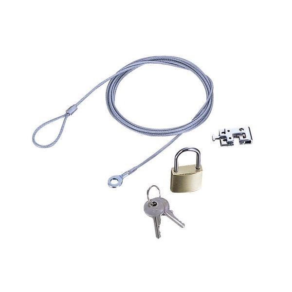 (まとめ) エレコム ノートPC&マウス用セキュリティワイヤーロック ESL-3 1パック 【×10セット】