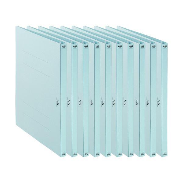 (まとめ)プラス たすけあ 利用者カルテフラットファイル A4タテ ブルー FL-805FF-BL 1パック(10冊)【×10セット】