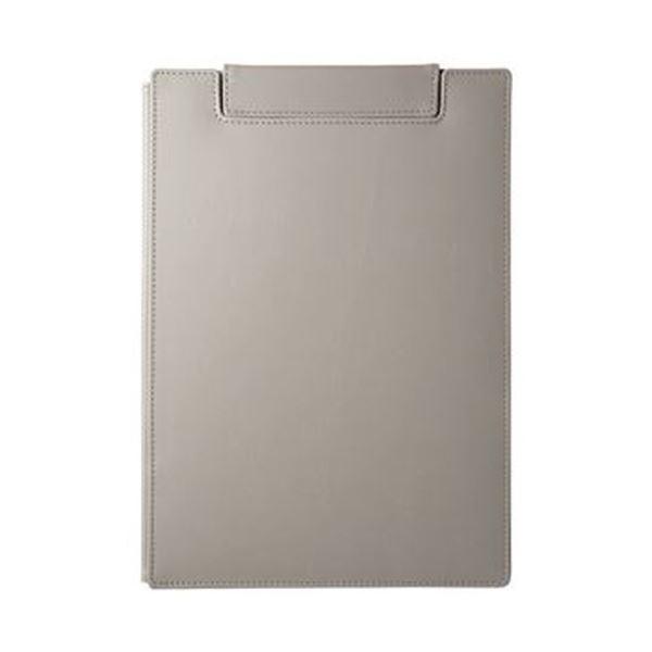 (まとめ)キングジム レザフェスUクリップボード(カバー付)A4 グレー 1932LU 1枚【×10セット】