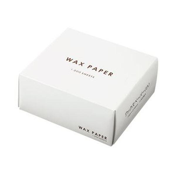 (まとめ)水野産業 ワックスペーパー 小 ホワイト 1箱(1000枚)【×10セット】