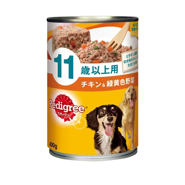 (まとめ)ペディグリー 11歳以上用 チキン&緑黄色野菜 400g (ペット用品・犬フード)【×24セット】